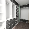 Big closet in home interior